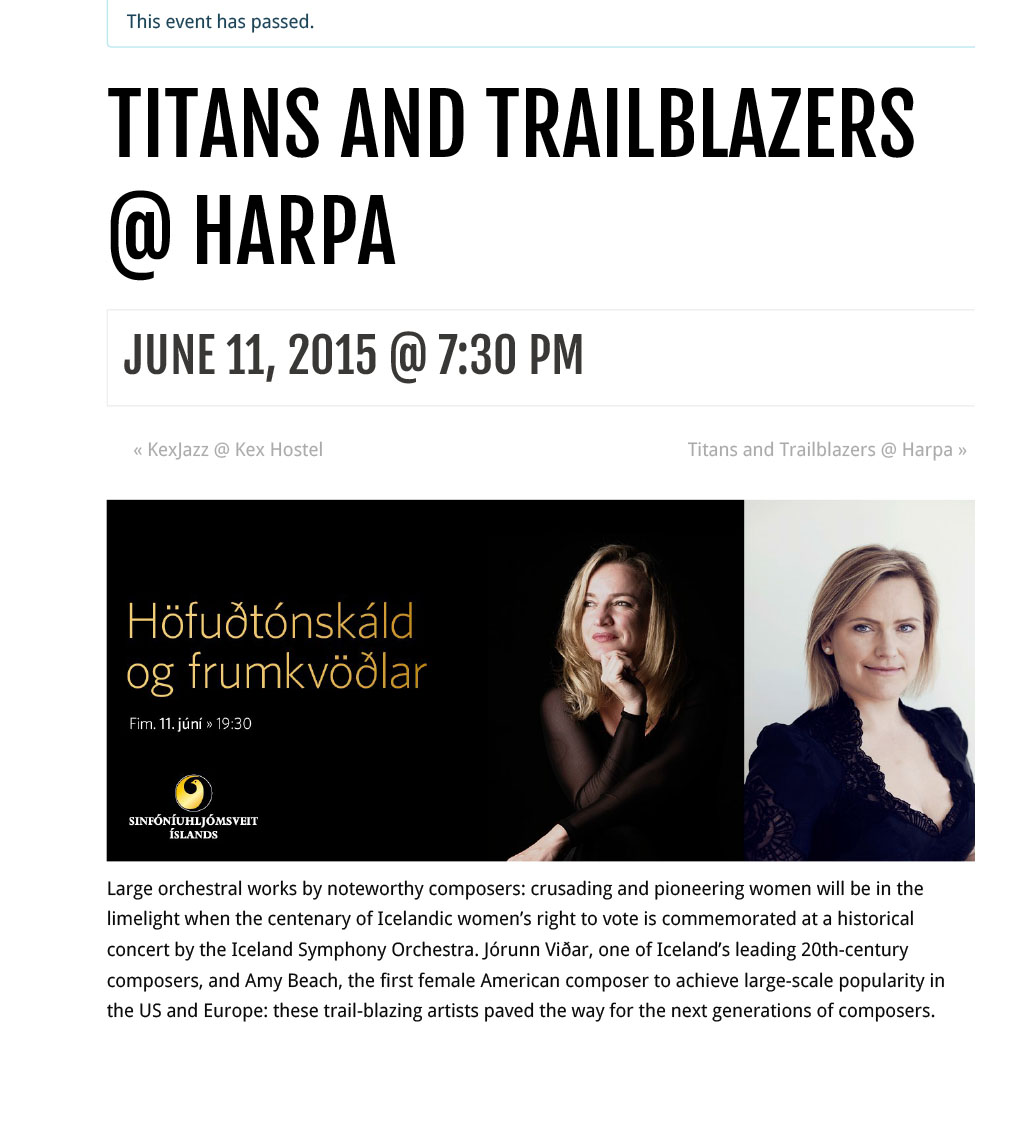 Titans and Trailblazers @ Harpa | What's On