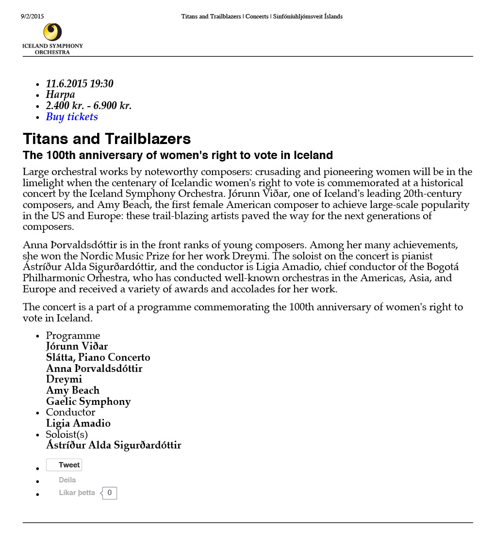 Titans and Trailblazers | Concerts | Sinfóníuhljómsveit Ísla